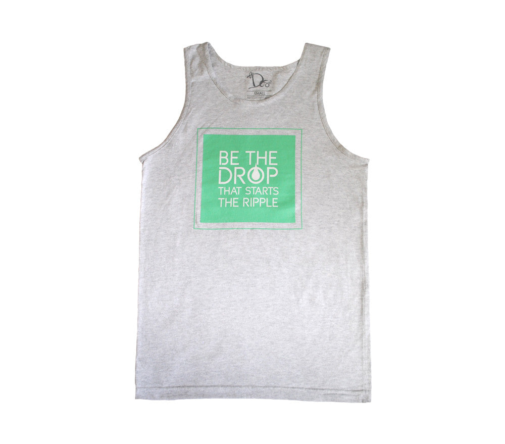 Men's Slogan Tank - Heather White