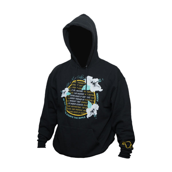 Men's Hibiscus Creed Hoodie - Black