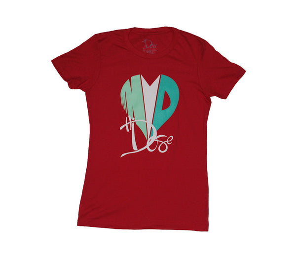Women's Heart Drop - Boyfriend Tee