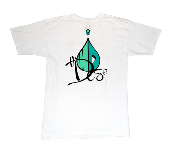 Men's Drop Logo - White