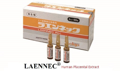 Laennec Human Placental Extract (50 ampoules x 2ml) -  To order, Call 831-419-1088 or email: info@jbpusa.com