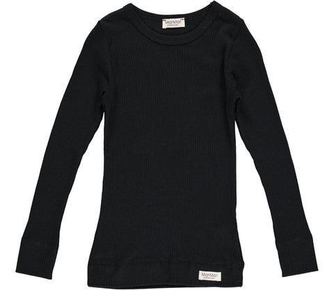 MarMar NOOS Black Ribbed Long Sleeve Tee