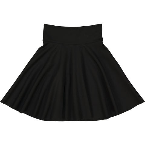 Teela Black Ponte Circle Skirt