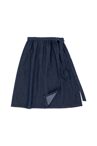 Tiny Cottons Denim Cross Skirt