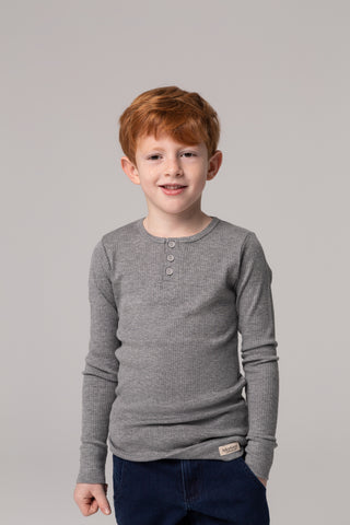 MarMar NOOS Grey Long Sleeve Tee with Buttons