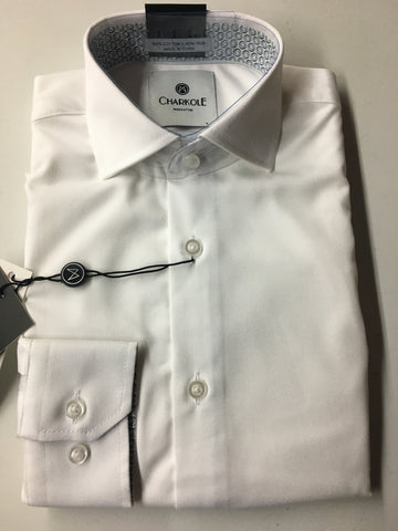 Charkole Slim Fit Shirt with Blue/Black Circles