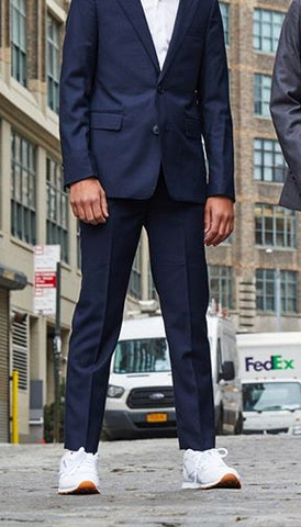 Charkole Slim Navy Dress Pants