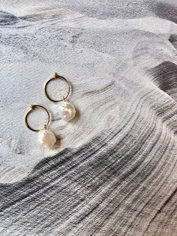 """Aspero"" pearl earrings"