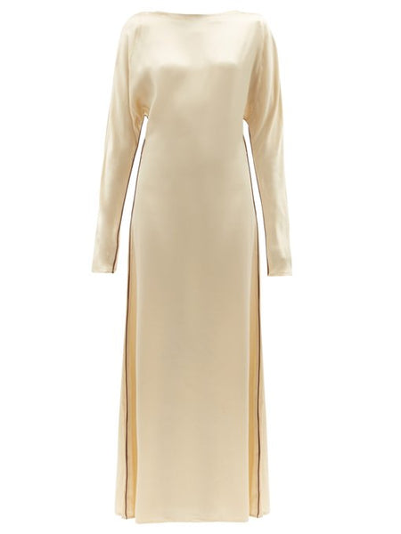 Aziza silk-charmeuse maxi dress