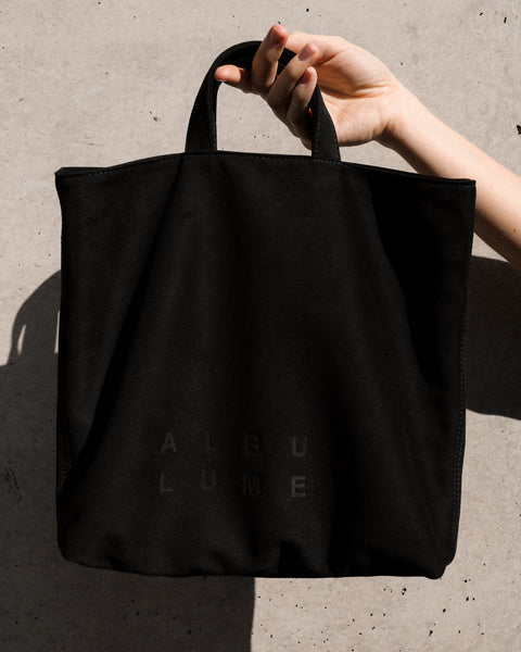 """TOUS LES JOURS"" BLACK VEGAN LEATHER BAG"