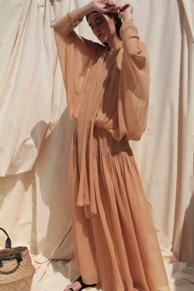 "PRE - ORDER ""LUCIA"" MAXI SILK DRESS"