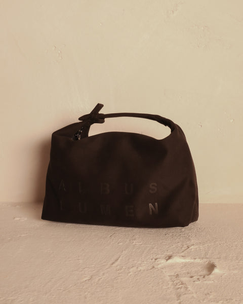 """PETIT POCHETTE"" BROWN VEGAN LEATHER POUCH"