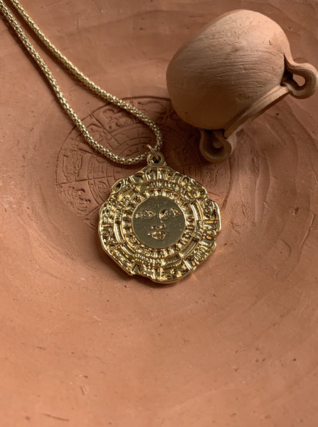 SIGNUM gold plated pendant necklace