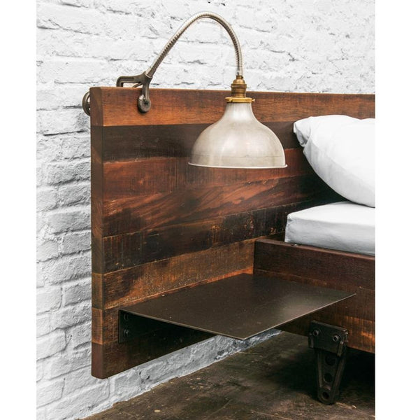 Rustic Industrial Headboard with night stands