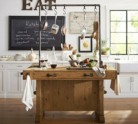 Kitchen Island / Work station - Unique Wood & Iron