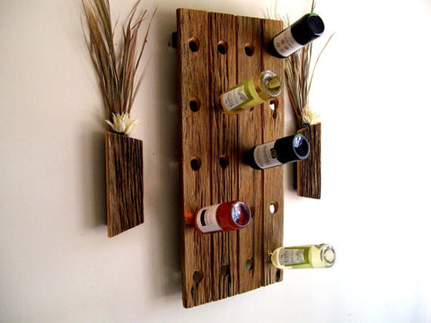 20 bottle Wine Rack - Unique Wood & Iron