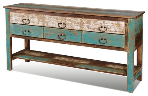 AQUA sideboard console with drawers - Unique Wood & Iron