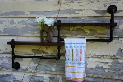 Rustic Industrial Towel Rack
