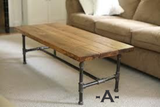 Pine board & Pipe coffee tables - Unique Wood & Iron