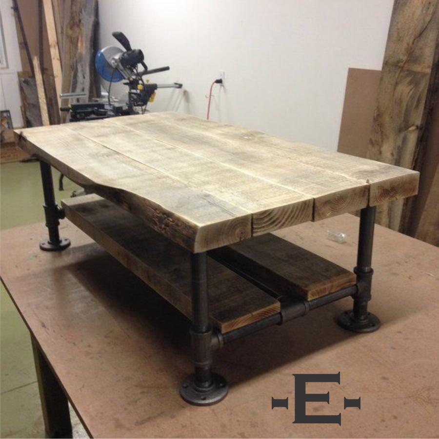 Industrial Pipe Coffee Table Pipe Coffee Table Pipe Coffee Table Large Industrial Rustic Wood