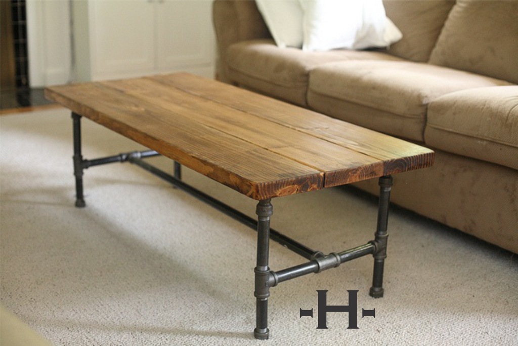 ... Pine board & Pipe coffee tables ... - Pine Board & Pipe Coffee Tables – Unique Wood & Iron
