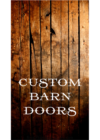 Custom Barn Doors - Unique Wood & Iron