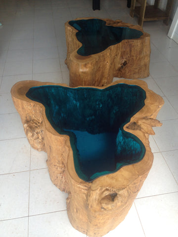 Glass Lake Coffee Table