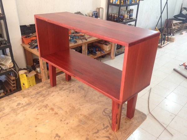Small Hardwood Media Center - Unique Wood & Iron
