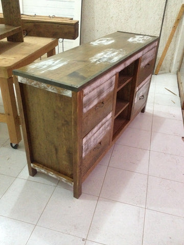 Dresser / Media Console - Unique Wood & Iron