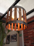 Drum pendant lamp - Unique Wood & Iron