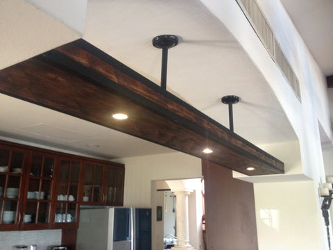 Gorgeous beam ceiling lamp - Unique Wood & Iron