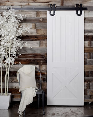 Colored Rustic Barn Door - Unique Wood & Iron