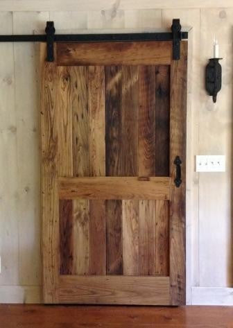 Rustic Looking Barn Door - Unique Wood & Iron