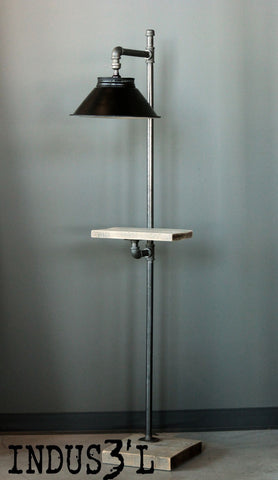 Rustic Industrial Pipe Floor Lamp #2