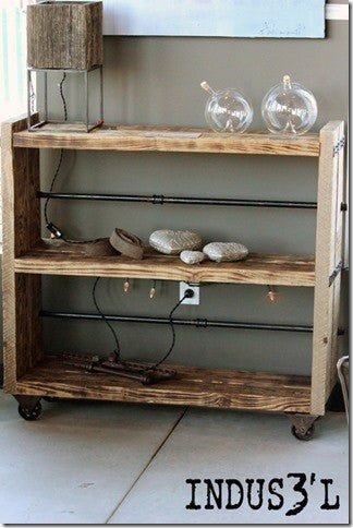 Reclaimed Wood & Pipe Shelving Unit - Unique Wood & Iron