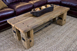 Reclaimed Wood and Beam coffee table - Unique Wood & Iron