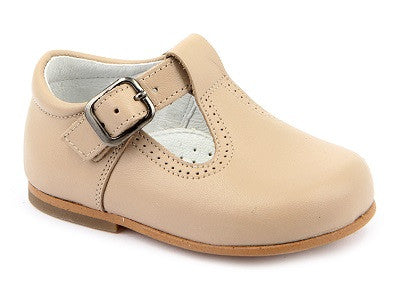 12657. Classic T Bar Plain Leather Shoe
