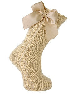 Kneehigh Openwork Sock with Bow