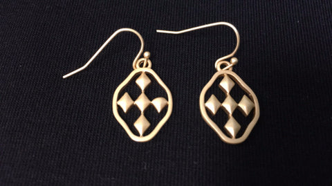 Shield of Faith Earrings Gold