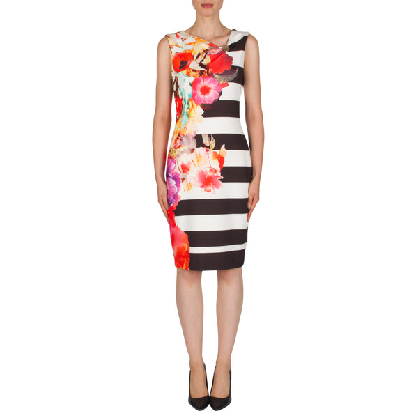 Joseph Ribkoff - Floral Stripe Dress