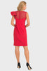 Joseph Ribkoff Red ruffle shoulder dresss