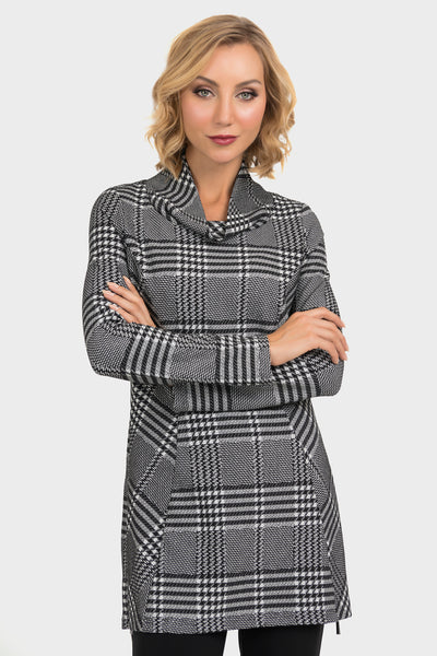 checkered tunic