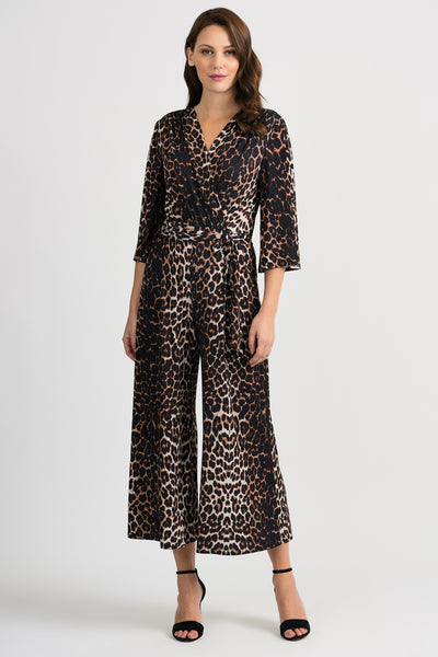 joseph ribkoff animal print jumpsuit