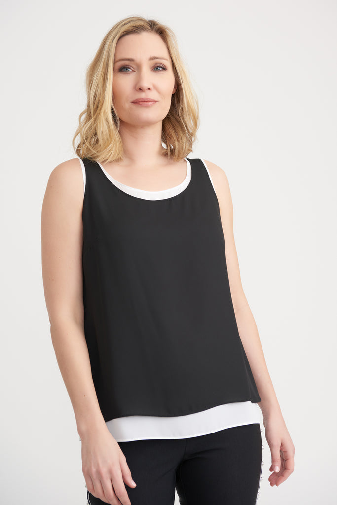joseph ribkoff layered singlet black and white