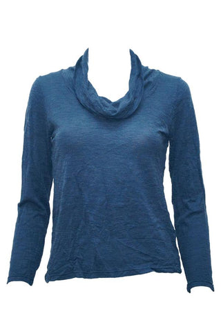 Blue long sleeve skivvy