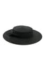 black boater hat