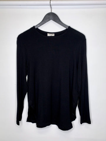 black long sleeve basic australian made womens clothing