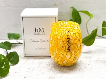 Tahitian Lime Yellow Speckle Candle