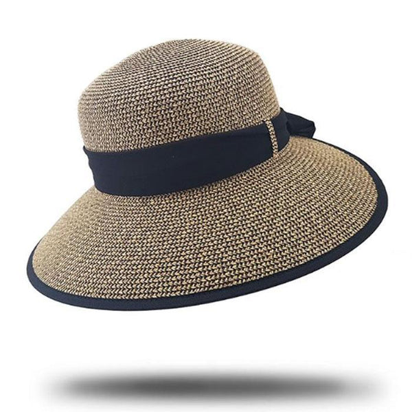 Mix brown woven hat