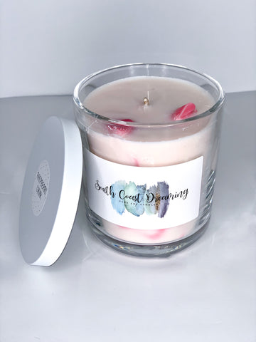 Raspberry Chunk Candle